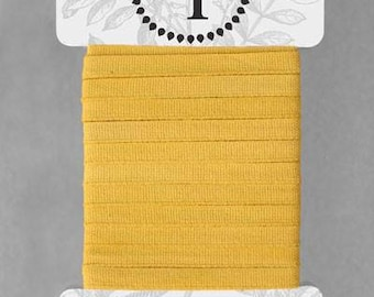 Naturally Dyed 6mm Ribbon-Soft Yellow