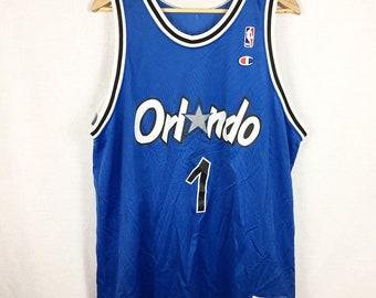 Vintage Orlando Magic Champion NBA Throwback Penny Hardaway Jersey Mens Size 48 / XL
