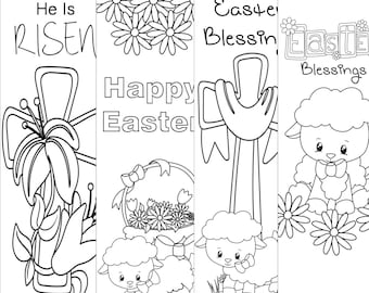 Easter Bookmarks/Print and Color/Digital Bookmarks/Christian Bookmarks