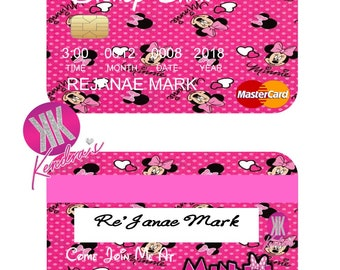 Minnie Mouse Credit Card Invite