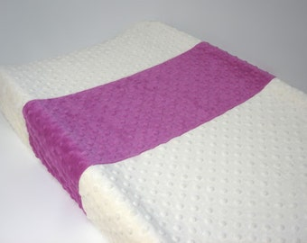 Ivory Changing Pad Cover with Stripe