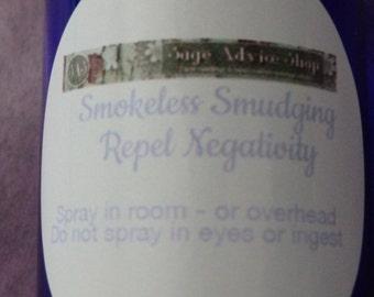 Smokeless Smudging, Repel Negativity - White Sage Smudge Spray, Lavender Spray, Cedar Smudge, Sage Lavender Smudge Spray, 2 oz spray