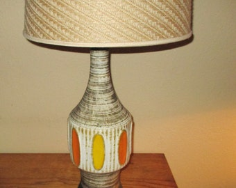 Mid Century Modern Ceramic Lamp/without lamp shade