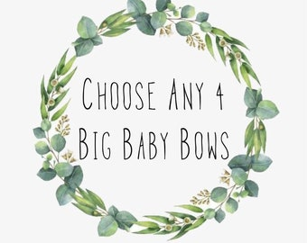 Big Baby Bows, Baby Headwraps, Custom Baby Bow Order, Build Your Own Bows, Toddler Head Bows, Baby Head Bows, Baby Turbans, Infant Bows