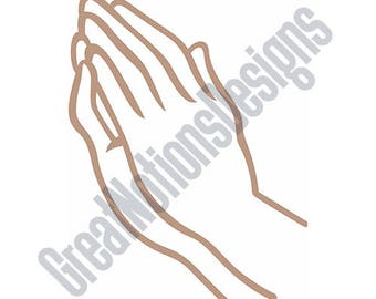 Praying Hands SVG - HTV - Vinyl Cutting Graphic Art