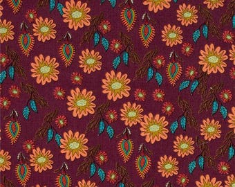 Flock Together Cotton Fabric Free Spirit Field of Flowers
