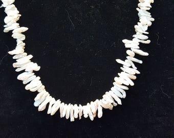 Keshi pearl strand