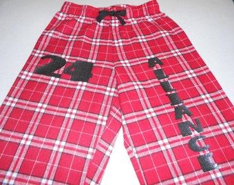 Custom Plaid Flannel Pants for Team Sports