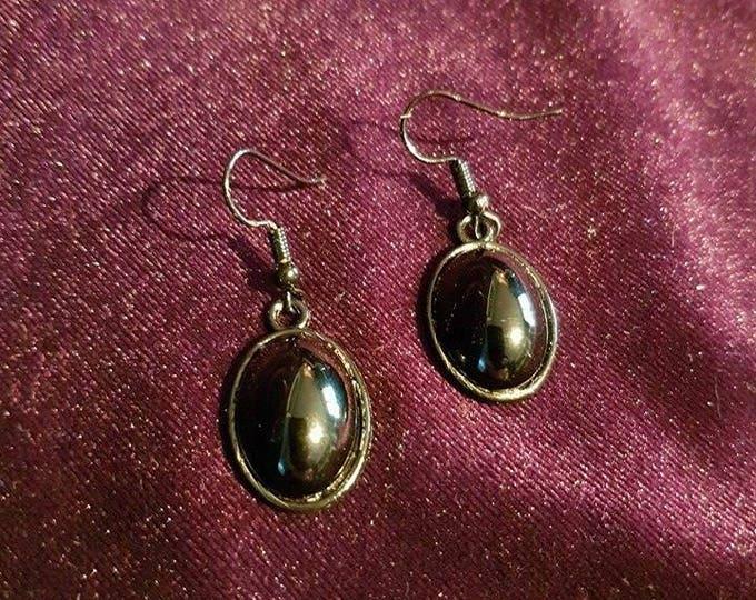 Black Onyx Earrings  - gothic victorian victoriangoth vampire vampiregoth goth onyx black