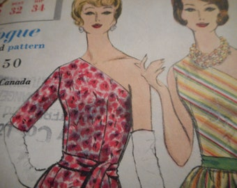 Vintage 1960's Vogue 4213 Special Design Dress Sewing Pattern Size 12 Bust 32