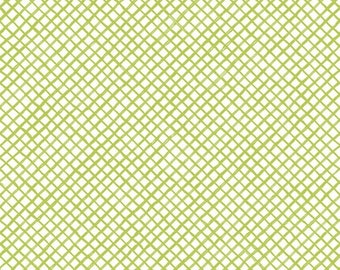 Loralie Designs Up And Away Light Green Trellis fabric - 1 3/4 yard - Last Piece