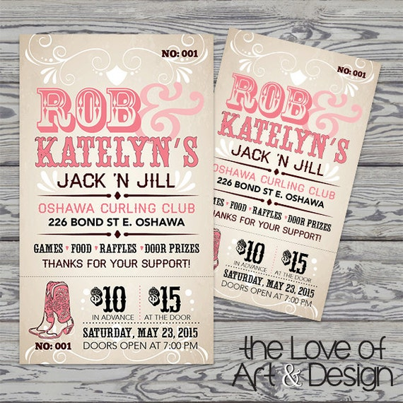 Printed Raffle Buck And Doe Tickets Jack And Jill Tickets