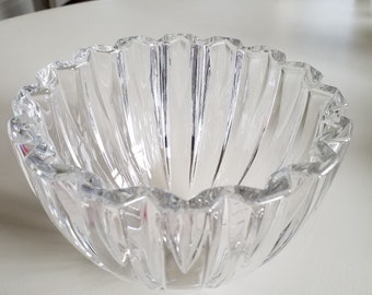 Villeroy and Boch 'Tondo' Cut Crystal Signed Bowl