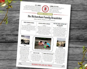 Year In Review / Newsletter Template in PDF for Print /