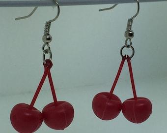 Hi Ho! Cherry-O Game Piece Earrings