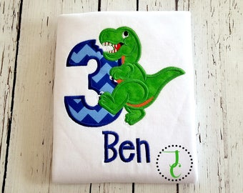 Dinosaur Birthday Shirt - Boys Birthday Shirt, T Rex Shirt, 1st Birthday, Baby Boy Birthday, Dino Birthday, Dinosaur Party, Dinosaur Shirt