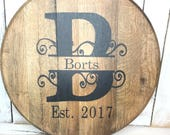 Bourbon Barrel Head/Uniqu...