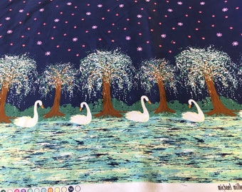 Michael Miller swan lake by the Half Metre