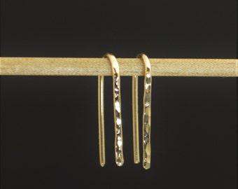 Gold Open Hoop Earrings, Horseshoe Earrings, Arc Earrings,Simple Earrings,14K Gold Filled,Gold Arc Earrings,Gold Open Hoop, Minimal Earrings