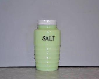 Jadeite Salt Shaker ~ Jeannette Jadite ~ Vintage Green Shaker ~ Replacement Shaker