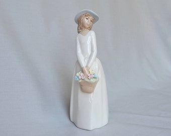 Princess House Girl with Flower Basket Figurine