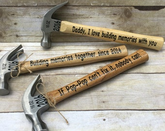 Fathers day hammers l Holiday gift  | personalized hammer gift l grandpa gift l gift for dad