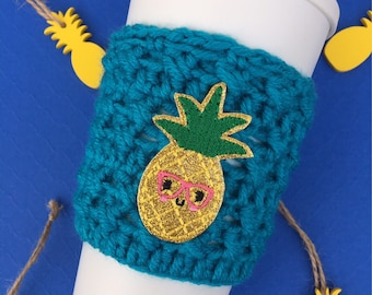 Nerdy Pineapple Cup Cozy, Pineapple Cup Cozy