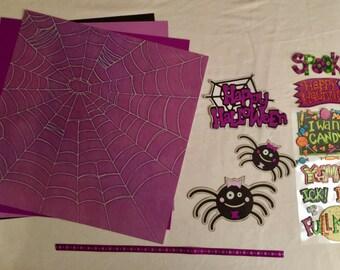Happy Halloween Spiders Scrapbooking Kit