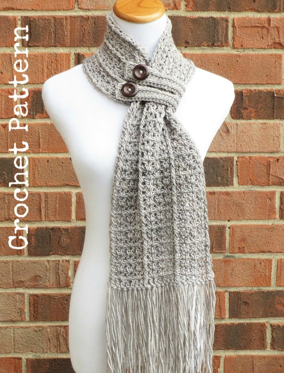Crochet scarf pattern crochet cowl button scarf neckwarmer crochet scarf pattern crochet cowl button scarf neckwarmer pattern instant download english only hartford buttoned scarf dt1010fo