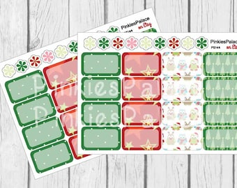 16 Half Box Stickers Christmas Stickers Planner Stickers