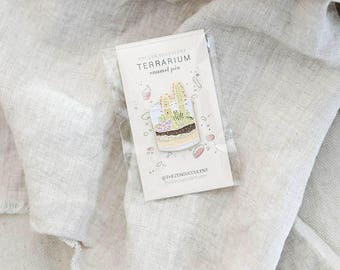 Terrarium Enamel Pin | Plant-inspired, Patches, Plant Lover, Gifts for Girl, Plant Inspired, Succulent, Plant lover, The ZEN Succulent