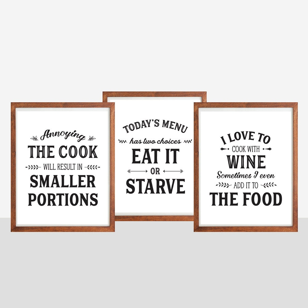 Kitchen quotes and sayings images for Funny kitchen set