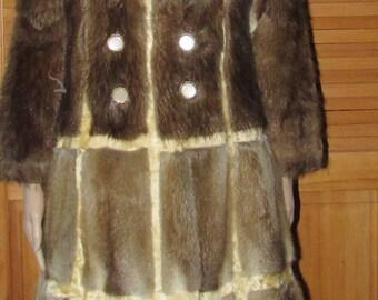 Manteau de fourrure de rat musqué pour projet ou artisanat/muskrat fur coat for craft or project size large