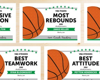 Challenger image with regard to printable basketball certificates