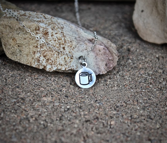 Coffee Cup Charm Necklace