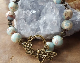 Dragon Scale bracelet, bracelet, gemstone, unique