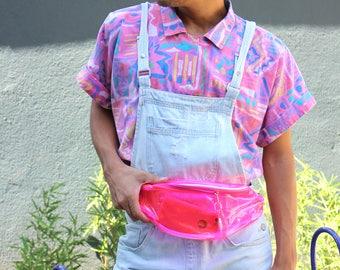 Colorful handmade plastic bum bag / hip bag / fanny pack