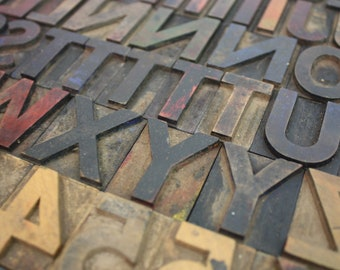 Wooden Letterpress Letters / Pick Your Wood Type Letters, Numbers and Punctuation