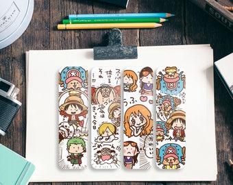 Kawaii One Peace Bookmarks - 4 PCS