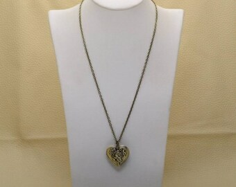 Great Love Heart Locket Necklace.