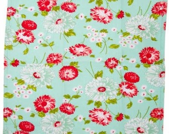 The Good Life Aqua Flowers TOWELING by Bonnie & Camille for Moda Fabrics