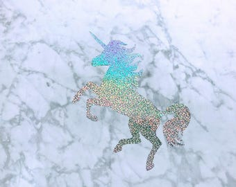 Holographic Unicorn Vinyl Wall Decal