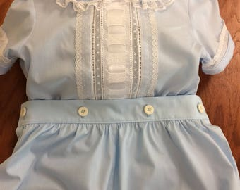 Boys Button-On Bubble with Ribbon Insertion