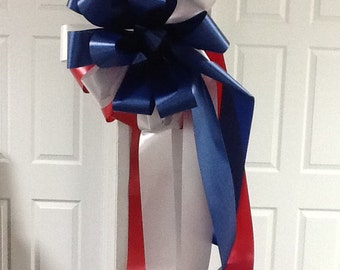 Red,white,blue mailbox bow
