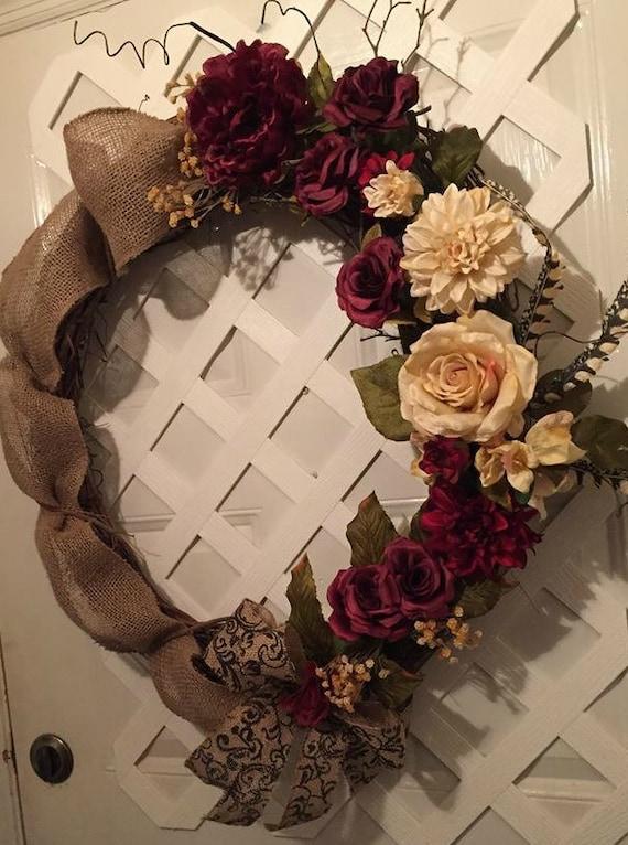 Mother's Day Gift - Front Door Wreath - Rustic Farmhouse Decor - Farmhouse -  Farmhouse Wreath - Rustic Farmhouse Wreath - Front Door Wreath