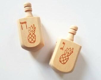Pineapple Dreidel - Hanukkah Spinning Top