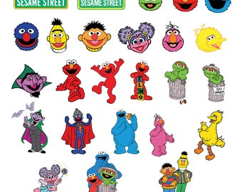 Sesame Street Svg/Eps/Png/Jpg/Cliparts,Printable, Silhouette and Cricut File !!!