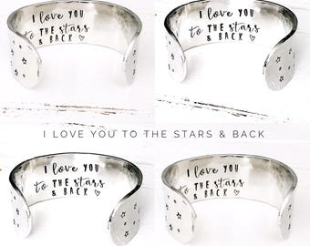 Womens Gifts | Gift ideas for women | Stars Cuff Bracelet | I love you to the stars and back | Star Jewelry | Star Bracelet | Cuff Bracelet