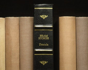 vintage Dracula book by Bram Stoker with faux leather spine