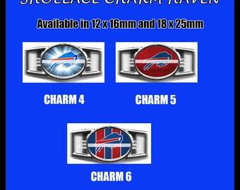 BUFFALO BILLS Shoelace Charm  Paracord Bracelet Charm Oval Charm 12 x 16mm or 18 x 25mm Charms